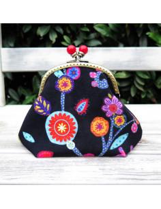 Odile Bailloeul - kit à coudre - Pochette velours Fleury
