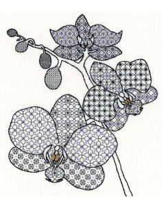Kit de Blackwork - Orchid de Bothy Threads