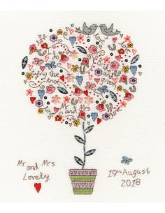 Mariage point de croix - Kit Love Vows de Bothy Threads