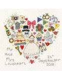 point de croix mariage - Kit The Big Day! de Bothy Threads