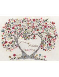 Kit de point de croix compté - Love Blossoms de Bothy Threads