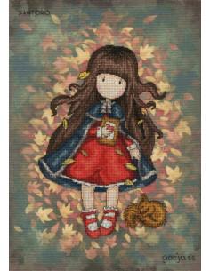 Kit de point de croix compté - Gorjuss Santoro Autumn Leaves de Bothy Threads