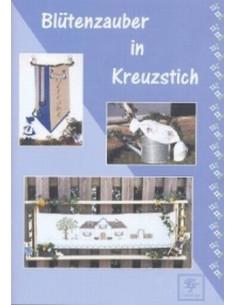Brochure Stickdesign Blütenzauber in Kreuzstich