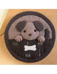 """Kit de Patchwork - Mini bourse """"chien"""""""