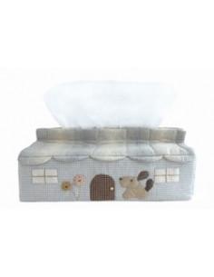 Kit de Patchwork - Boite à mouchoirs chien