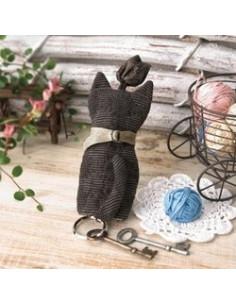 Kit de Patchwork - Porte-clé chat