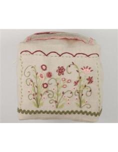Au fil des jours - kit - Sac fleuri rose