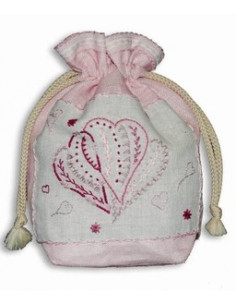 ABC Collection - kit - Petite bourse coeur - version rose