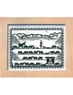 CollecXion du Chalet - Berger et troupeau de moutons
