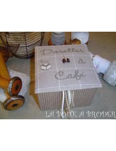 La Boîte à Broder - Boîte Dosettes à café moka