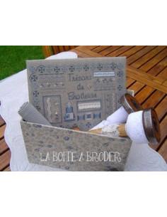 La Boîte à Broder - Boîte Trésors de Brodeuse - bleu