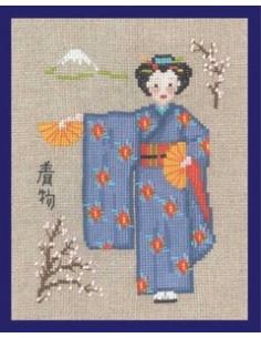 Le Bonheur des Dames - Kimono bleu