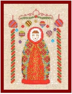 Le Bonheur des Dames - Poupée russe rouge