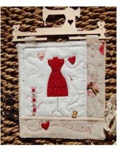 """Les Boutis de Lucie - Panneau """"I love stitching"""""""