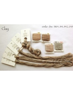 Fil Nina's Threads - coton mouliné - Clay