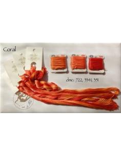 Fil Nina's Threads - coton mouliné - Coral
