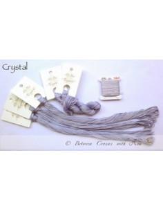 Fil Nina's Threads - coton mouliné - Crystal