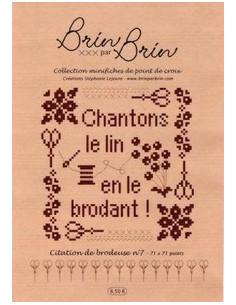 Brin par Brin - Citation de brodeuse N°7