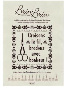 """Fiche Brin par Brin """" Citation de brodeuse N°1"""""""