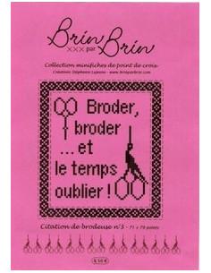 """Fiche Brin par Brin """"Citation de brodeuse N°3"""""""