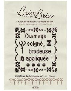 """Fiche Brin par Brin """"Citation de brodeuse N°4"""""""