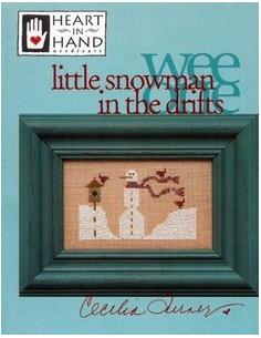 Heart in Hand - little snowman in the drifts
