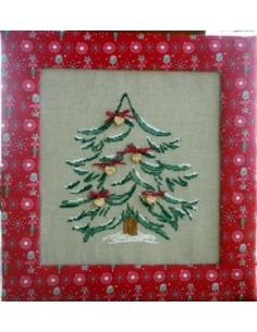 La Cigogne qui brode - Sapin de Noël coeurs