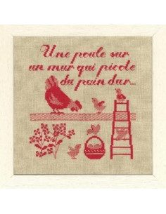 Le ptit monde de Perrette - Une poule sur un mur