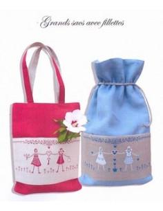 Marie Suarez - Grands sacs avec fillettes