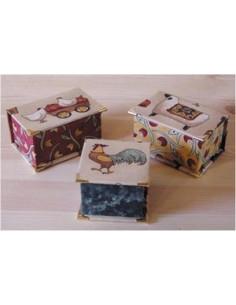 Kit de cartonnage - 3 Mini Boîtes