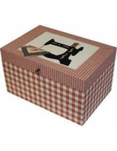 Kit de cartonnage - Boîte à couture avec intérieur