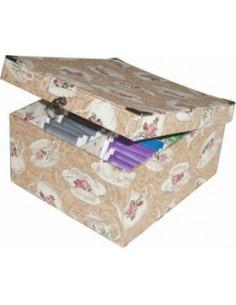 Kit de cartonnage - Boîte à thé à 4 compartiments