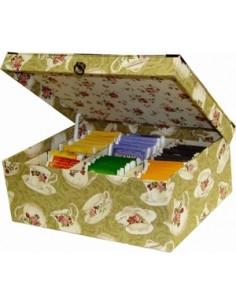 Kit de cartonnage - Boîte à thé à 6 compartiments