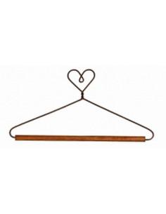 Cintre Coeur barre bois 5 cm