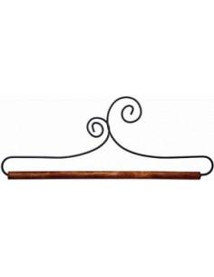 Cintre barre bois avec volutes - 13 cm