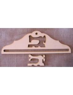 Cintre en bois - Machine à coudre 13 cm