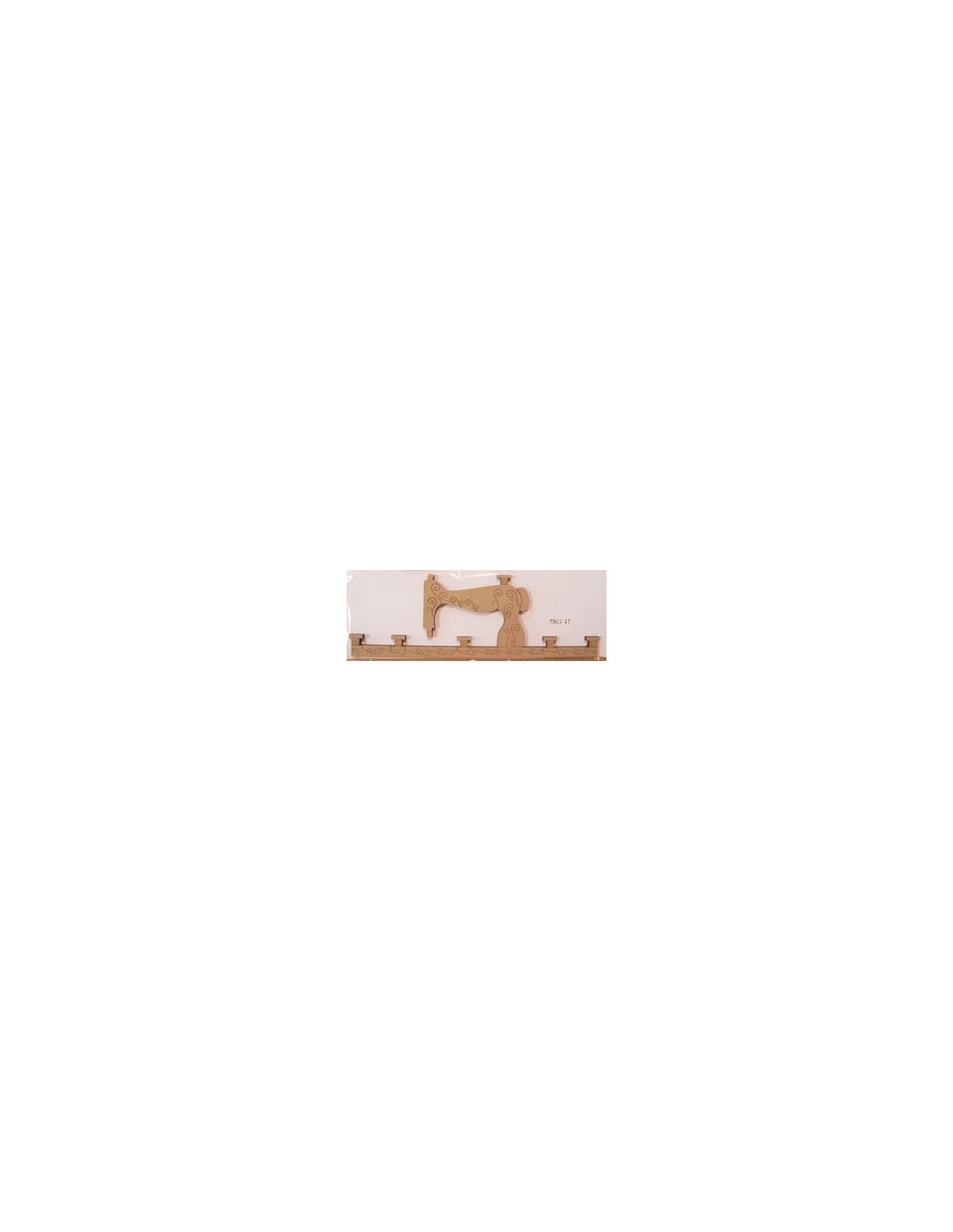 cintre en bois machine coudre 17 cm de large beige. Black Bedroom Furniture Sets. Home Design Ideas