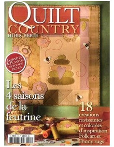 Brochure - Quilt Country - Les 4 saisons de la feutrine