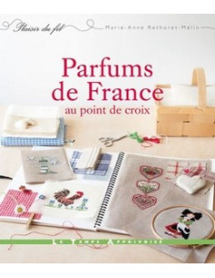 Livre - Parfums de France au point de croix