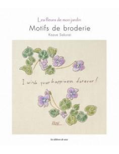 Livre - Les fleurs de mon jardin - Motifs de broderie