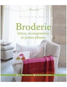 Livre - Broderie, lettres, monogrammes et petites phrases
