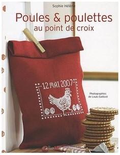 Livre - Poules et poulettes au point de croix