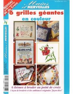 """Mains et Merveilles """"6 grilles géantes en couleur"""""""