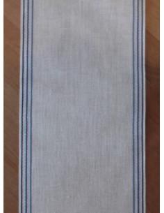 Bande écru avec lignes bleues