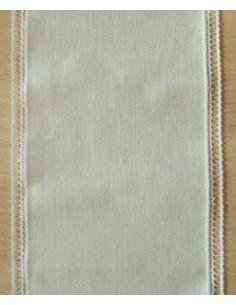 Bande vert pâle bordure ajourée