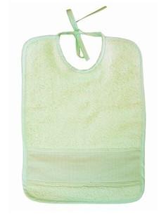 Bavoir pour bébé - éponge - vert clair