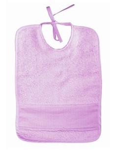 Bavoir pour bébé - éponge - violet clair