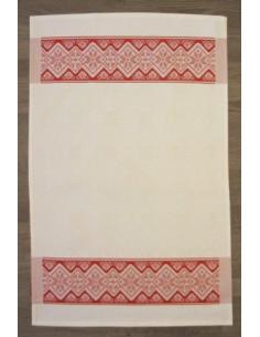 Graziano - Linge/Torchon Stella - rouge et blanc