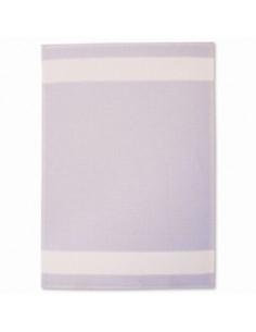 JPS - Linge/torchon en nid d abeille bleu clair et blanc