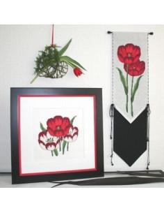 Tulpenleuchten in rot